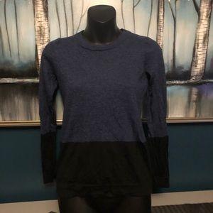 Tahari ExtraFine Merino Wool Color Block Sweater M